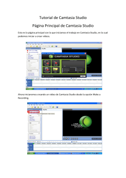 Tutorial de Camtasia Studio - elteacher