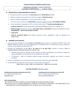 CONVOCATORIA licenciaturas virtuales