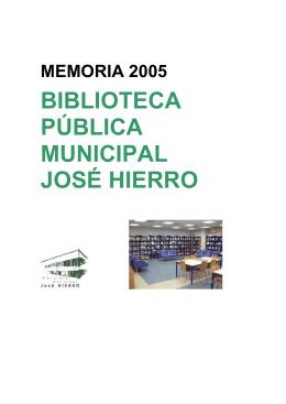 BIBLIOTECA PÚBLICA MUNICIPAL JOSÉ HIERRO
