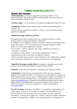 Torneo cocido de Lalín - Federación Gallega de Tenis