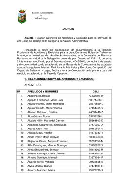 Anuncio Definitiva - Ayto. Vélez Málaga