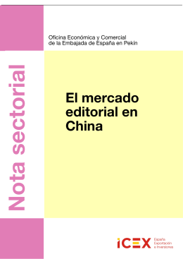 II Nota sobre el SECTOR EDITORIAL 2013