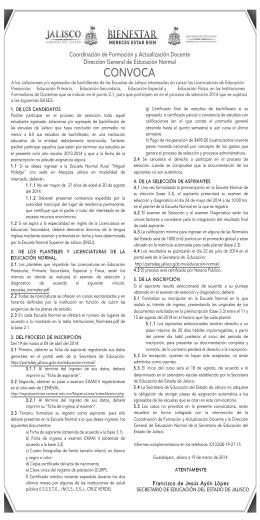 convocatoria normales - Secretaría de Educación Jalisco
