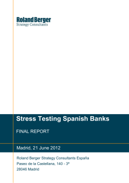 Stress Testing Spanish Banks
