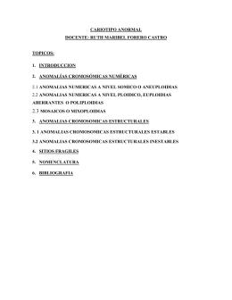 TEMA: CARIOTIPO ANORMAL