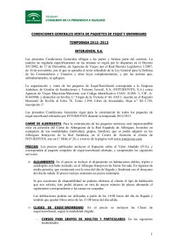 CONDICIONES GENERALES VENTA DE PAQUETES