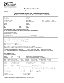 PREGNANCY EVALUATION MEDICAL RECORD FORM
