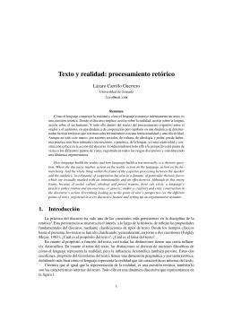 Texto y realidad: procesamiento retórico