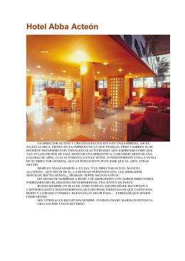Hotel Abba Acteón