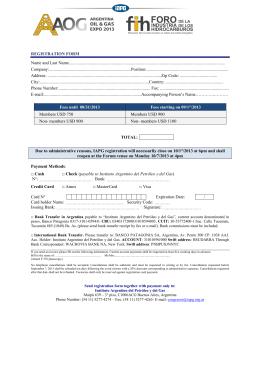 registration form - Instituto Argentino del Petroleo y del Gas