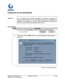 Instalación de Acrobat Reader, continuación
