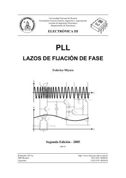Lazos de fijación de fase, PLL (monografía versión , 372 kb)