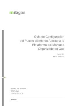 Guía de Configuración del Puesto cliente de Acceso a la Plataforma