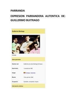 guillermo buitrago - Fundación Cultura Vallenata
