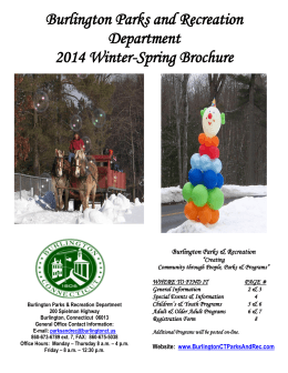 Parks and Recreation Winter & Spring 2014