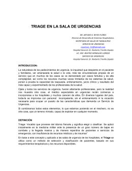TRIAGE EN LA SALA DE URGENCIAS