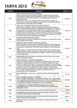 Ver Catálogo de Tarifas