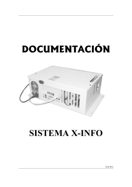 DOCUMENTACIÓN DOCUMENTACIÓN SISTEMA X-INFO