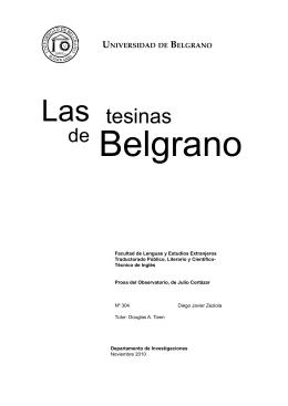 Las tesinas - Universidad de Belgrano