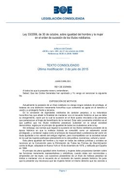 Ley 33/2006, de 30 de octubre, sobre igualdad del hombre