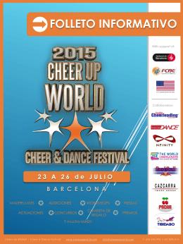 FOLLETO INFORMATIVO - Cheer Up World 2015