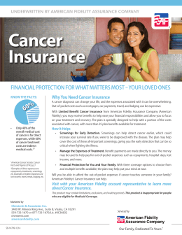 Cancer Insurance - American Fidelity Assurance Company