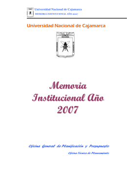 Memoria Institucional del año 2007