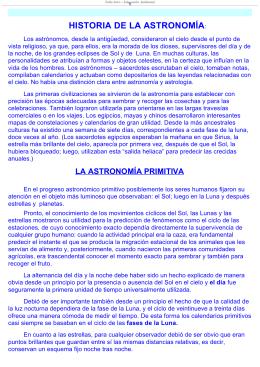 HISTORIA DE LA ASTRONOMÍA: