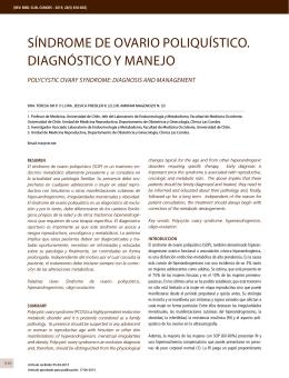 síndrome de ovario poliquístico. diagnóstico y manejo