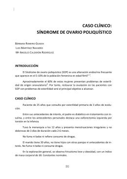 CASO CLÍNICO: SÍNDROME DE OVARIO POLIQUÍSTICO