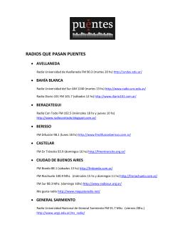 RADIOS QUE PASAN PUENTES - Blog de la Comisión Provincial
