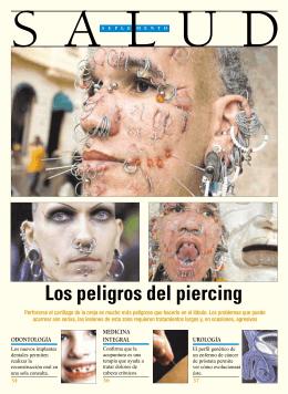 Los peligros del piercing