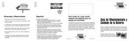 Guía de Mantenimiento y Cuidado de la Batería