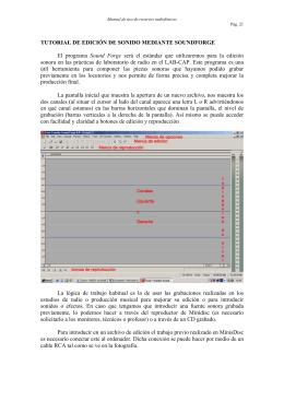 TUTORIAL DE EDICIÓN DE SONIDO MEDIANTE SOUNDFORGE El