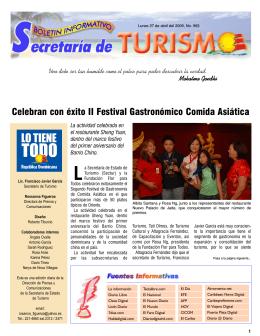 Boletín Informativo 27/04/2009