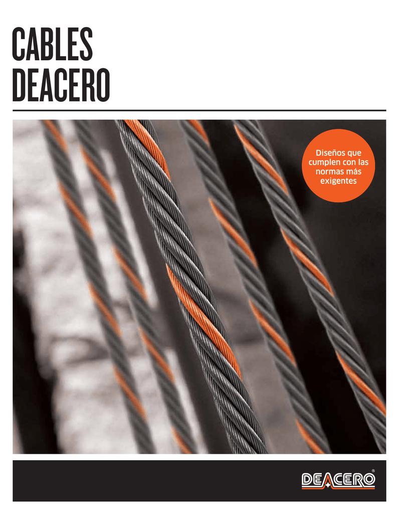 Catalogo cables de acero - Cables de acero ...