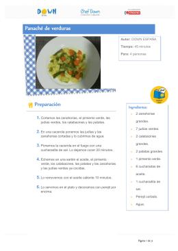 Panaché de verduras Preparación