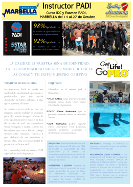 Instructor PADI - Bucea en Marbella
