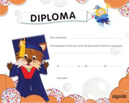 """Diploma """"Pompas de jabón"""" 5 años"""