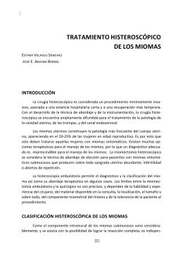 TRATAMIENTO HISTEROSCÓPICO DE LOS MIOMAS