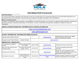 H.O.L.A. Office – Information Package