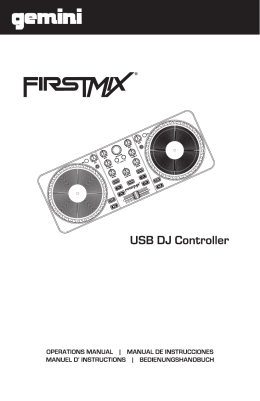 FirstMix Manual