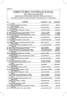 directorio internacional de proveedores