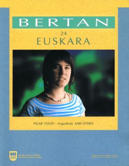 euskara, español, francés e inglés disponible al