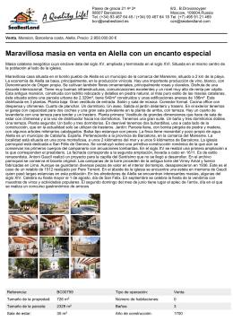 Maravillosa masia en venta en Alella con un encanto