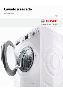 Catálogo Bosch lavado, lavadoras, secadoras