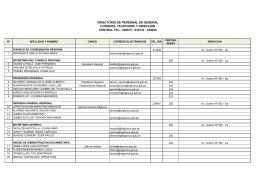 directorio de personal en general central tel.: 238575