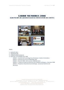 LIBRO MEMORIA 2008 - Grafoanalisis.com