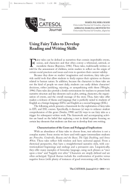 Using Fairy Tales to Develop Reading and