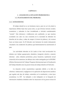 3 CAPÍTULO I 1. ANÁLISIS DE LA SITUACIÓN PROBLEMÁTICA 1.1
